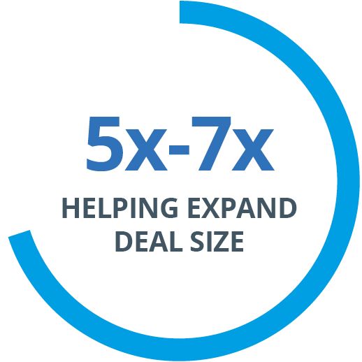 5x - 7x HELPING EXPAND DEAL SIZE