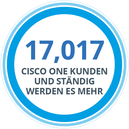 17,017 Cisco One Clients and Counting